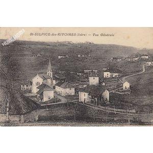 St-Sulpice-des-Rivoires (Isère) Vue générale