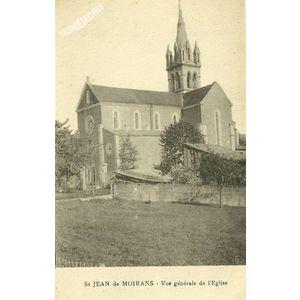 St Jean de Moirans vue générale de l'Eglise