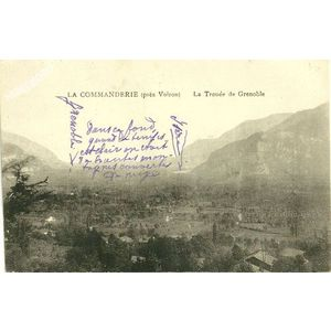La Commanderie (près Voiron) la Trouée de Grenoble