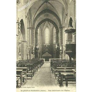 St Jean-de-Moirans (Isère) vue intérieure de l'Eglise