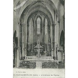 St-Jean-de-Moirans (Isère) l'intérieur de l'Eglise