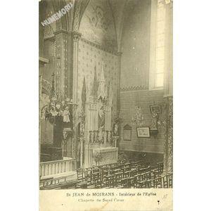 St Jean de Moirans  Intérieur de l'Eglise chapelle du Sacré Coeur