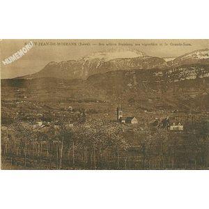 Saint-Jean-de-Moirans (Isère) ses arbres fruitiers, ses vignobles et la Grande-Sure