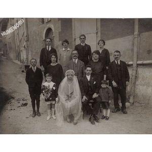 mariage Bouvier / Aubert en 1928 (photo prise à voiron ?)