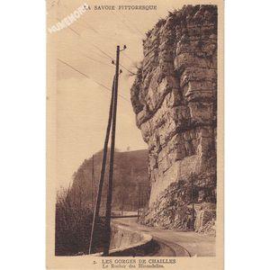 la Savoie pittoresque 3 les gorges de Chailles le rocher des Hirondelles