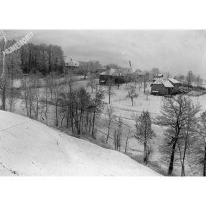 hameau sous la neige
