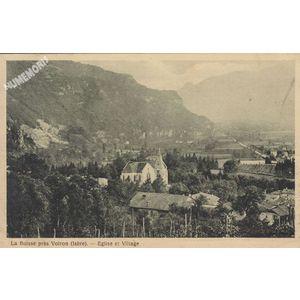 la Buisse près voiron (isère) église et village