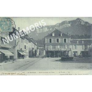 St Laurent du Pont  la place 1906