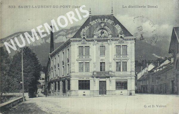 St Laurent du Pont distillerie Bonal  1916