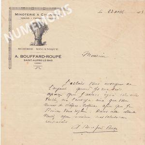 facture bouffard Roupe? Alphonse St Aupre le bas