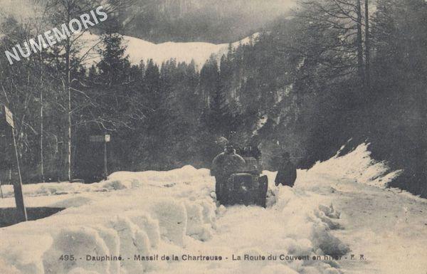 Grande Chartreuse Route du Couvent en hiver