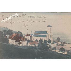 Miribel église color 1905