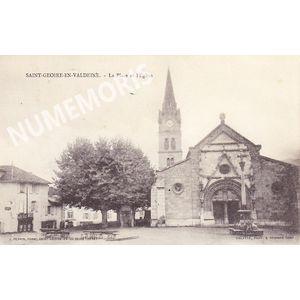 L'Eglise et la Place de Saint-Geoire-en-Valdaine J.Boffard