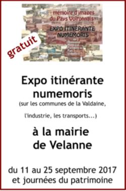 Expo itinérante numemoris Velanne