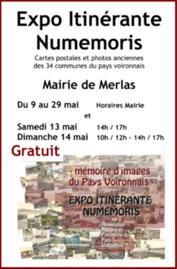 Expo itinérante numemoris Merlas