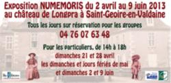 Lancement de l'expo au château de Longpra à St Geoire en Valdaine